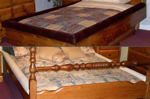 Padded Waterbed Rail Caps And Futon