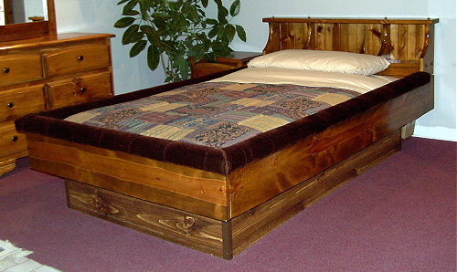 Cherokee Pine Bookshelf Waterbed Frame And Futon